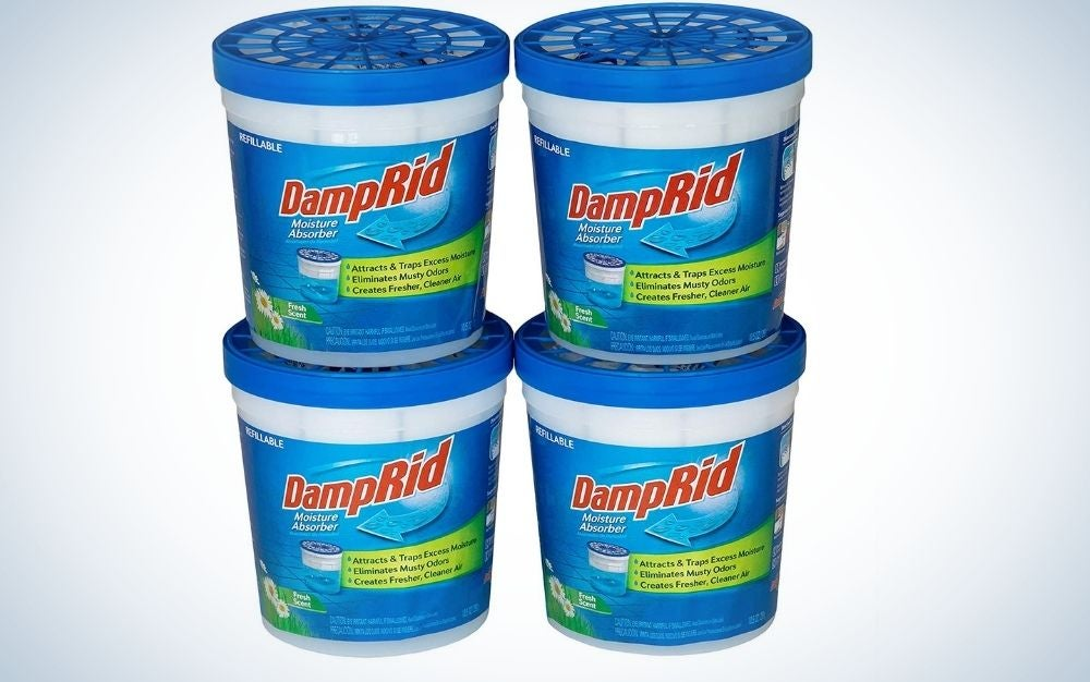 The DampRid Fresh Scent Refillable Moisture Absorber is the best overall.