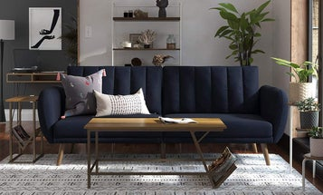 Chic Futon Sofas for Sitting and Sleeping