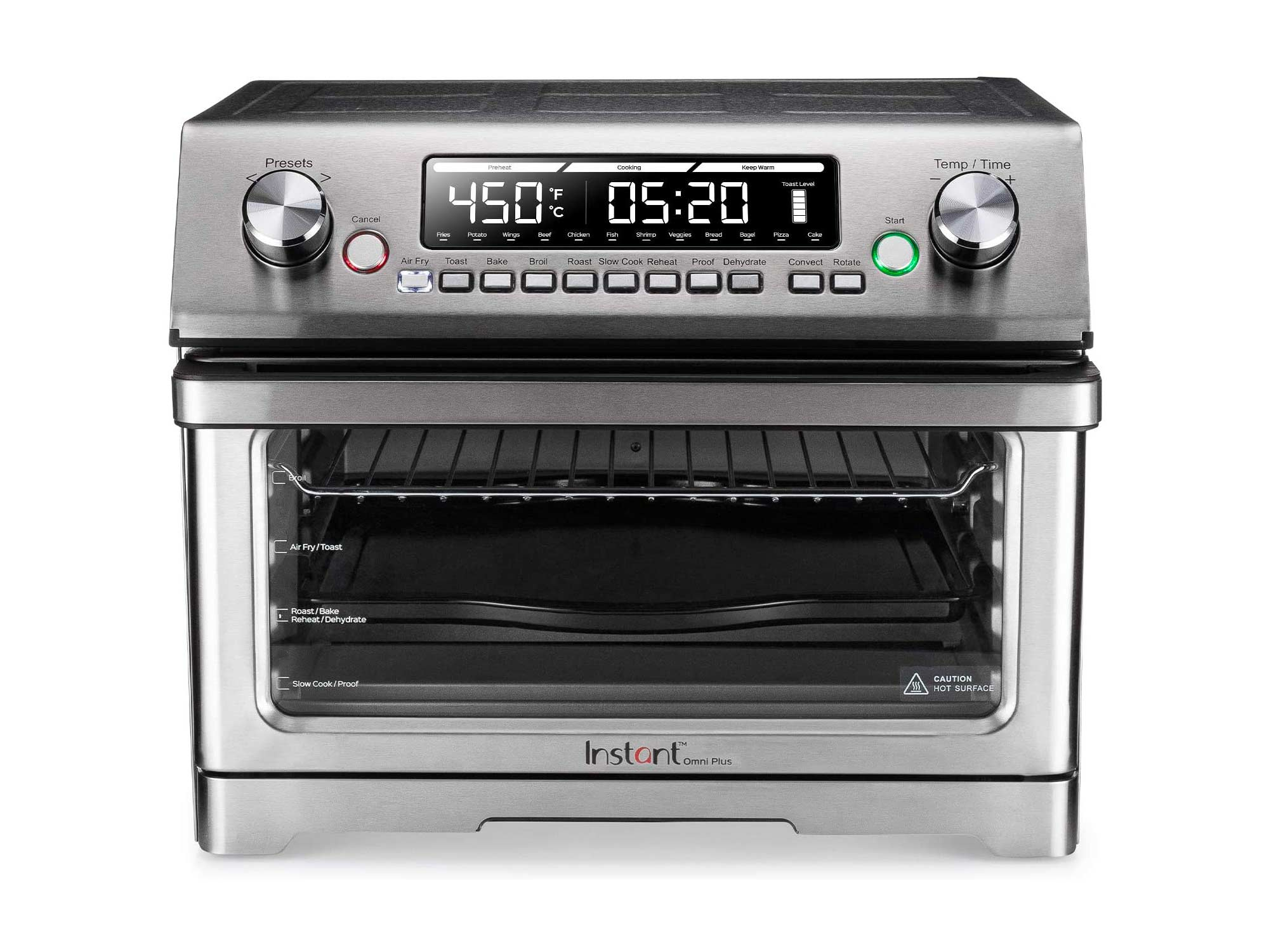 Instant Omni Plus Air Fryer Toaster Oven 11 in 1, 26L, Rotisserie, Reheat Pizza