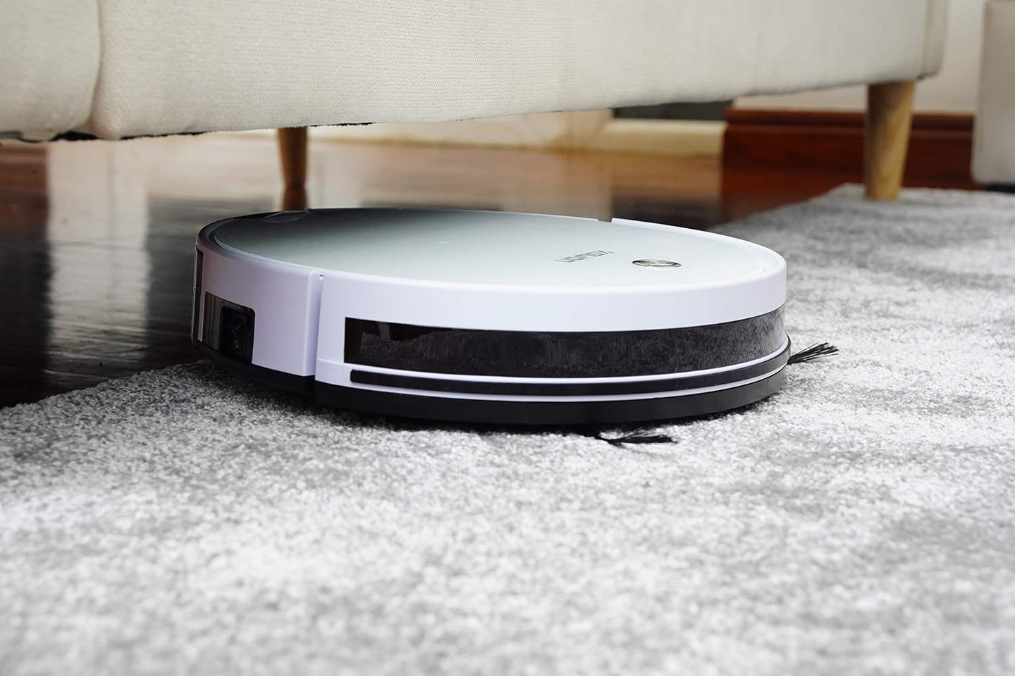 robot vacuum going under a couch