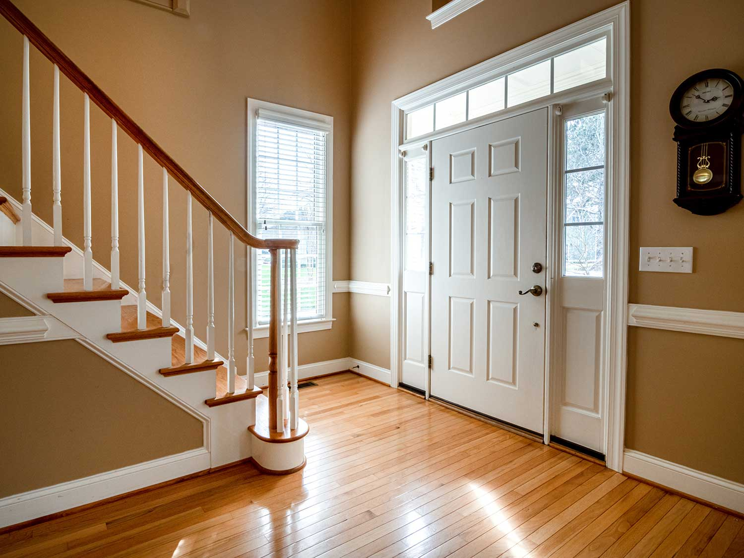 Entryway in home.