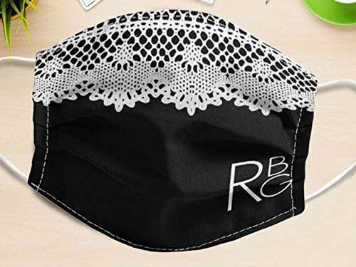 RBG Collar Mask 100% Cotton Anti-dust Mouth Face Protect Cover, 3-Layer Unisex Reusable Fashion Washable Cover