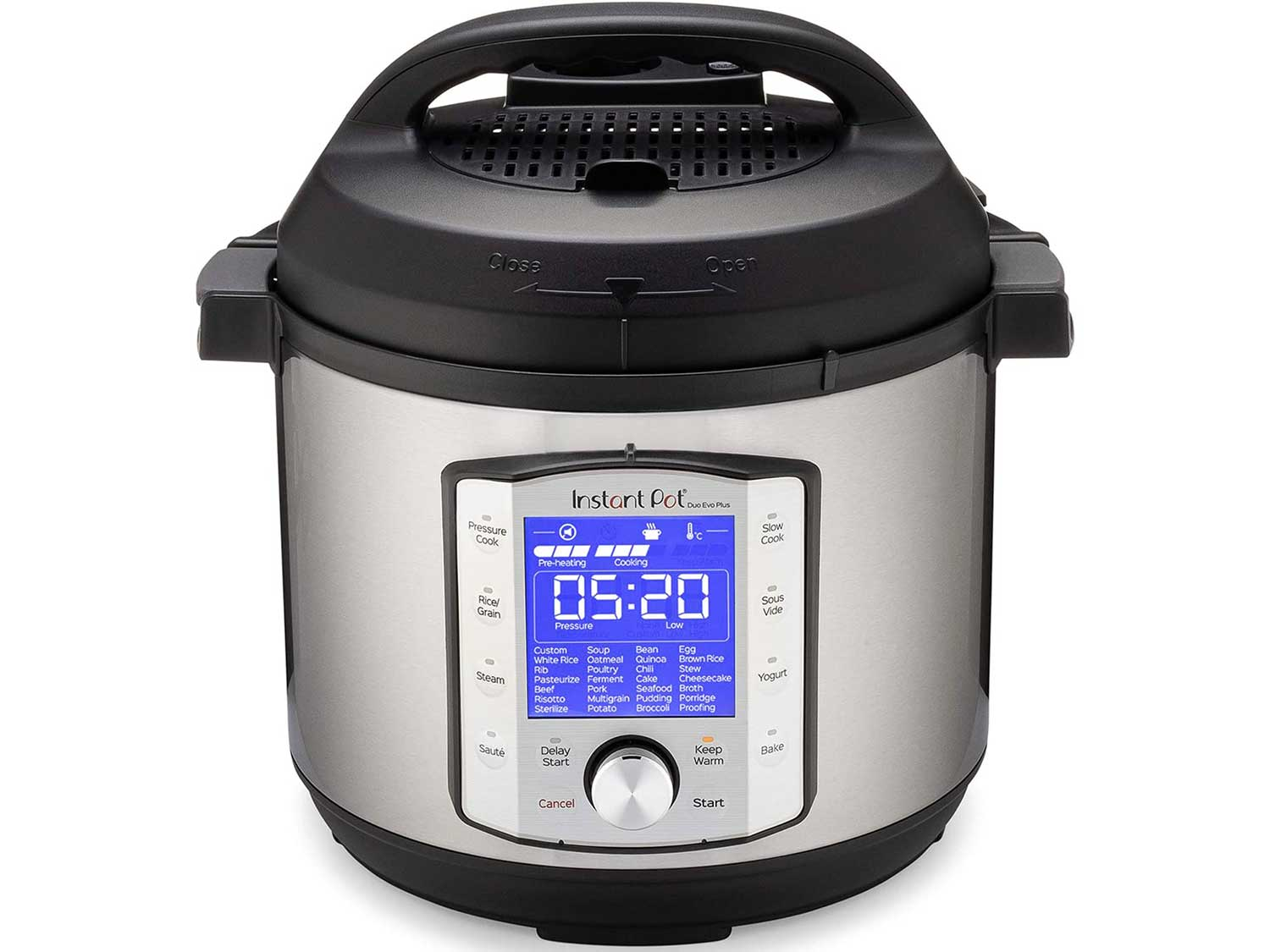 Instant Pot Duo Evo Plus Pressure Cooker 9 in 1,  6 Qt, 48 One Touch