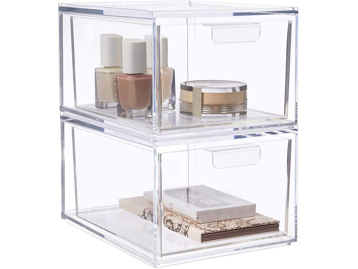STORi Audrey Stackable Cosmetic Organizer Drawers 4-1/2