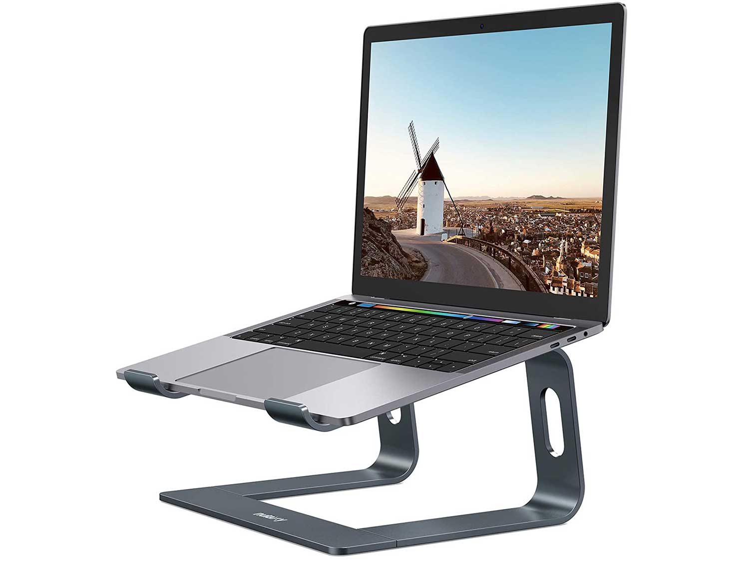 Nulaxy Laptop Stand, Ergonomic Aluminum Laptop Mount Computer Stand, Detachable Laptop Riser Notebook Holder Stand Compatible with MacBook Air Pro, Dell XPS, Lenovo More 10-15.6