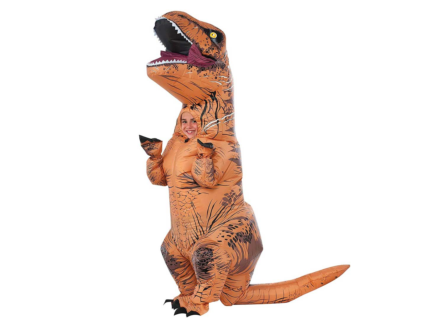 Rubie's Child's Jurassic World T-Rex Inflatable Costume, Small, Brown