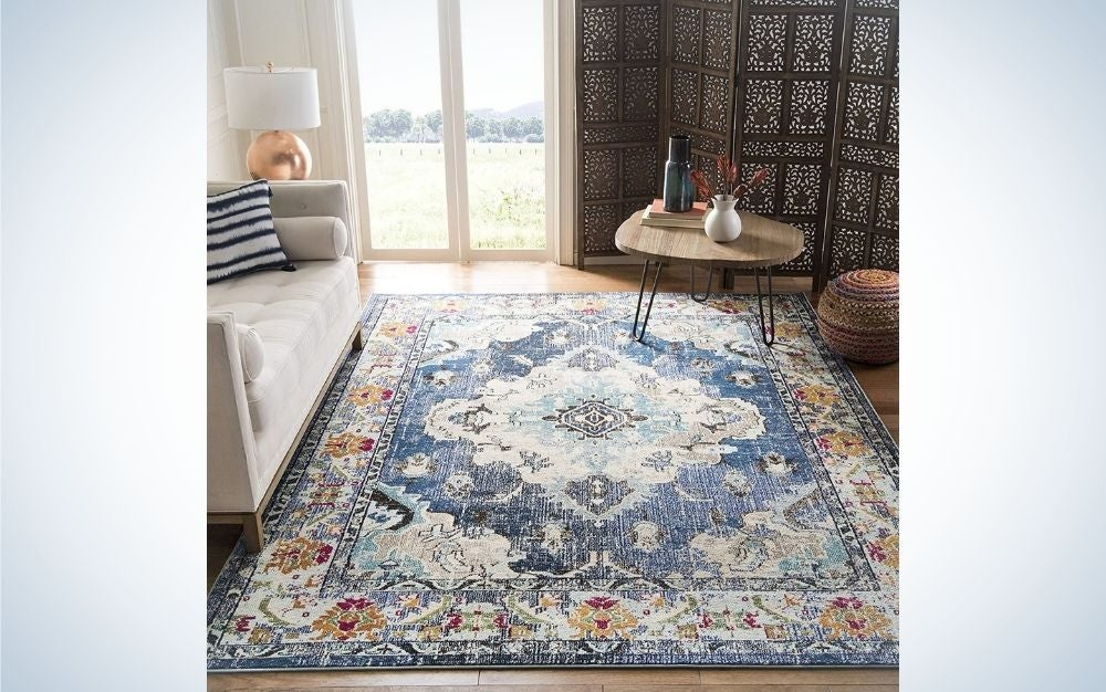 The Safavieh Monaco Collection Boho Chic Medallion Distressed Rug is the best overall.