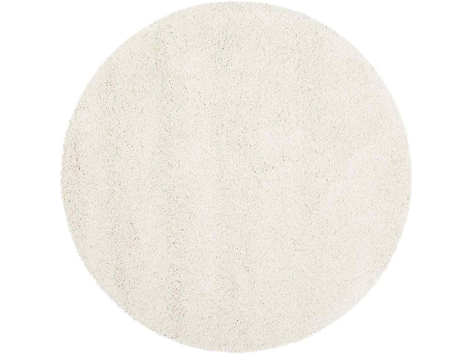 Safavieh Milan Shag Collection SG180-1212 2-inch Thick Area Rug, 7' Round, Ivory