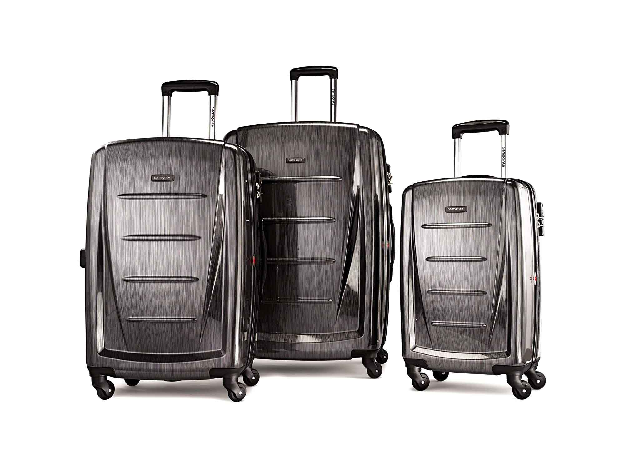 Samsonite Winfield 2 Hardside Expandable Luggage with Spinner Wheels, Charcoal, 3-Piece Set