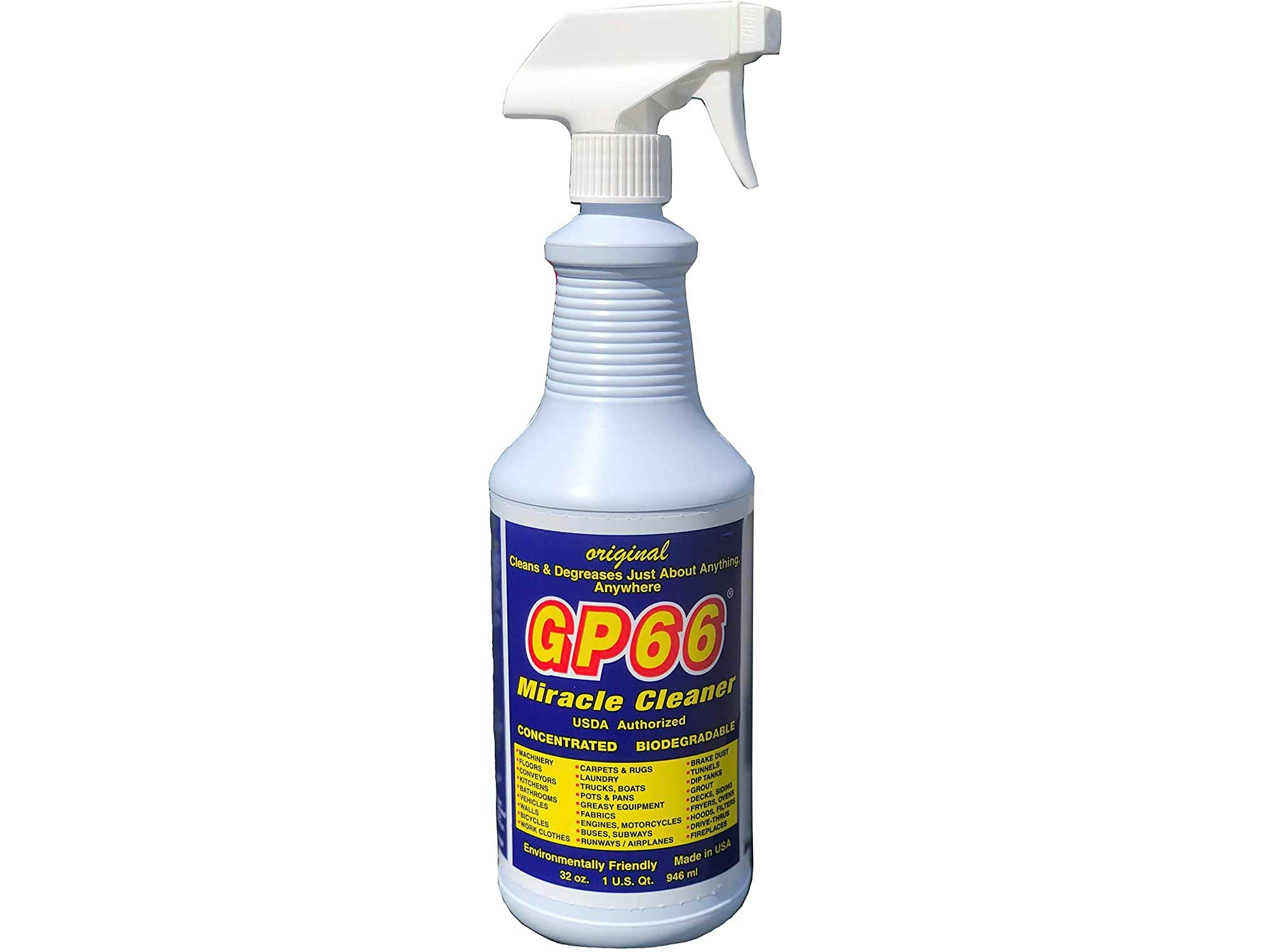 GP66 Green Miracle Cleaner Super Size! Powerful American Made Heavy Duty From GP66 (32 oz.) All Purpose Cleaner Deep Cleaning Spray For the Toughest Dirt, Grease, and Grime Kitchen Cleaner Oven Cleaner Bathroom Cleaner Superior Strength