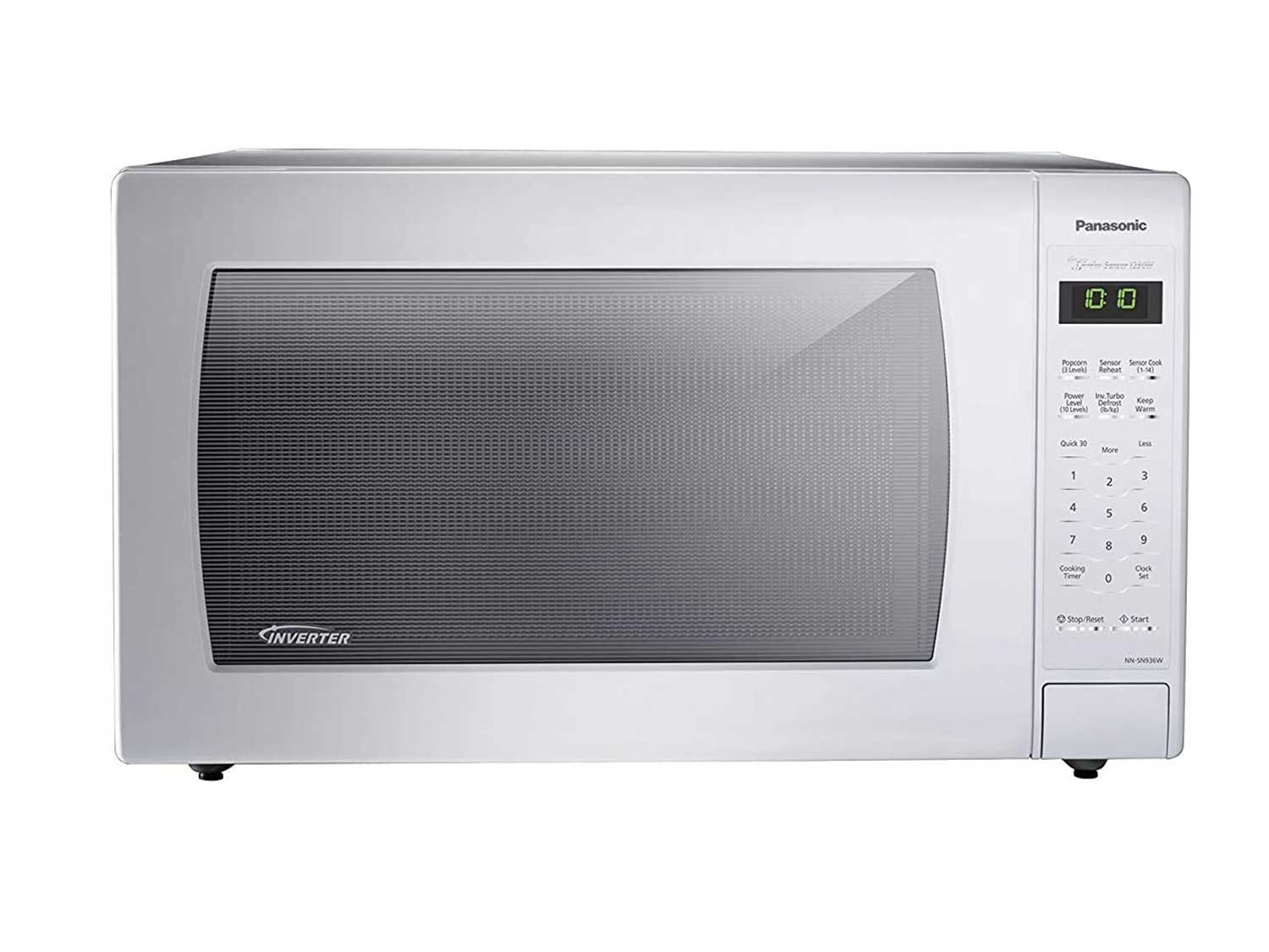 Panasonic NN-SN936W Countertop Microwave with Inverter Technology, 2.2 Cubic Foot, 1250W, White
