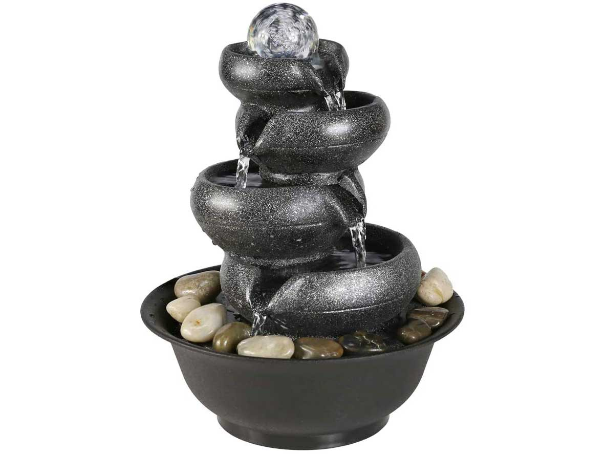 BBabe Flowing Pot Table Waterfall Fountain 11 2/5