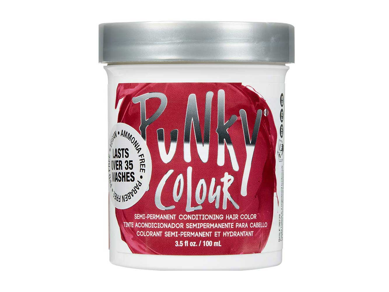 Punky Cherry on Top Semi Permanent Conditioning Hair Color, Vegan, PPD and Paraben Free, lasts up to 25 washes, 3.5oz