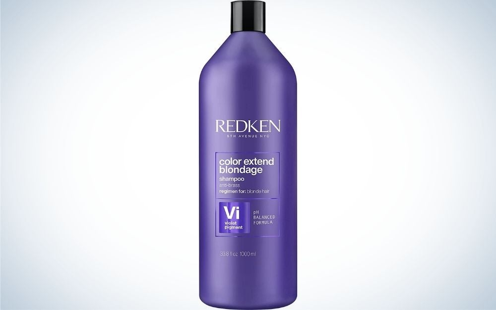 Redken Color Extend Blondage Color Depositing Purple Shampoo is one of the best color shampoos for blondes.