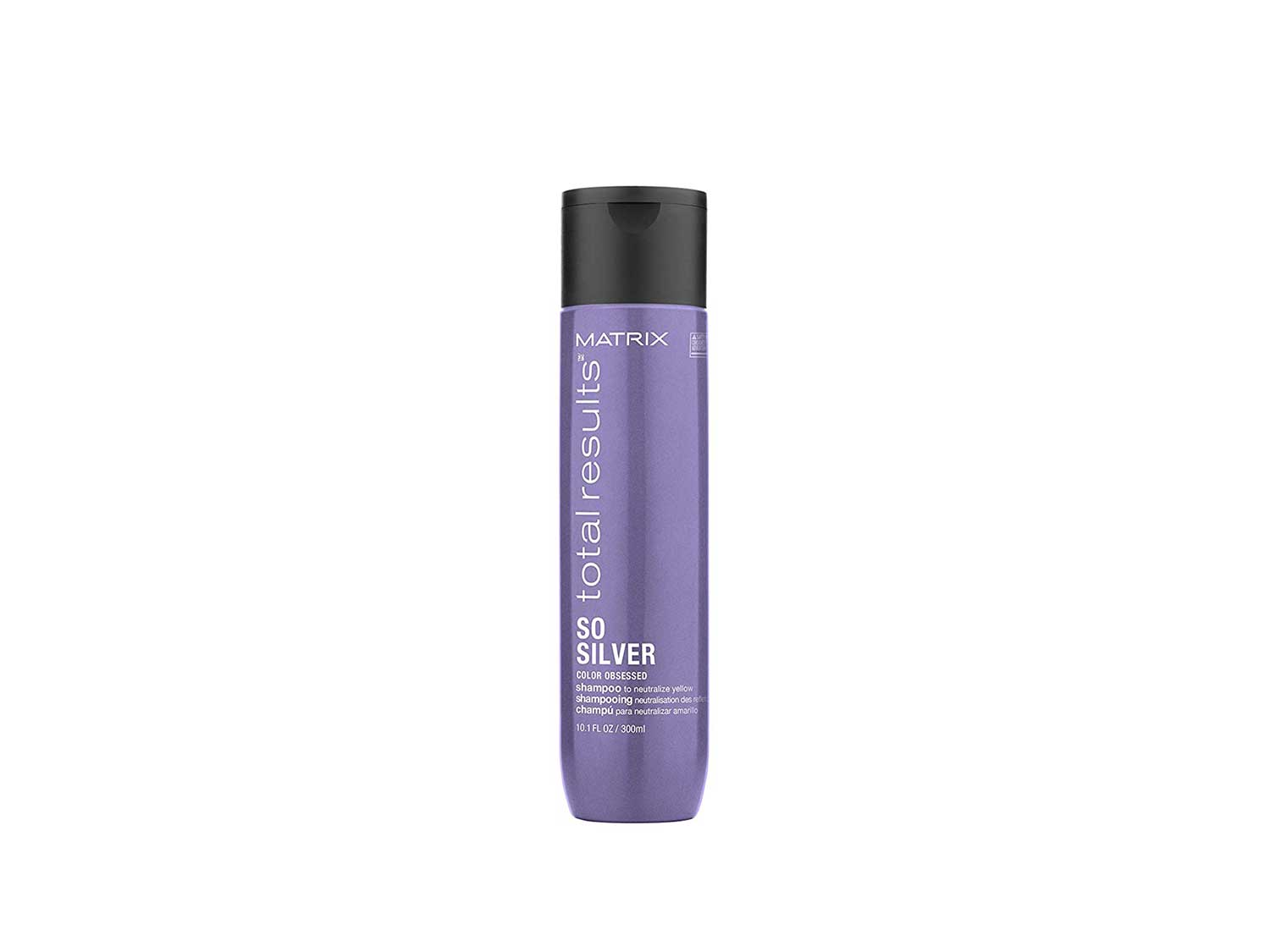 MATRIX Total Results So Silver Color Depositing Purple Shampoo for Neutralizing Yellow Tones   Tones Blonde & Silver Hair   for Color Treated Hair  