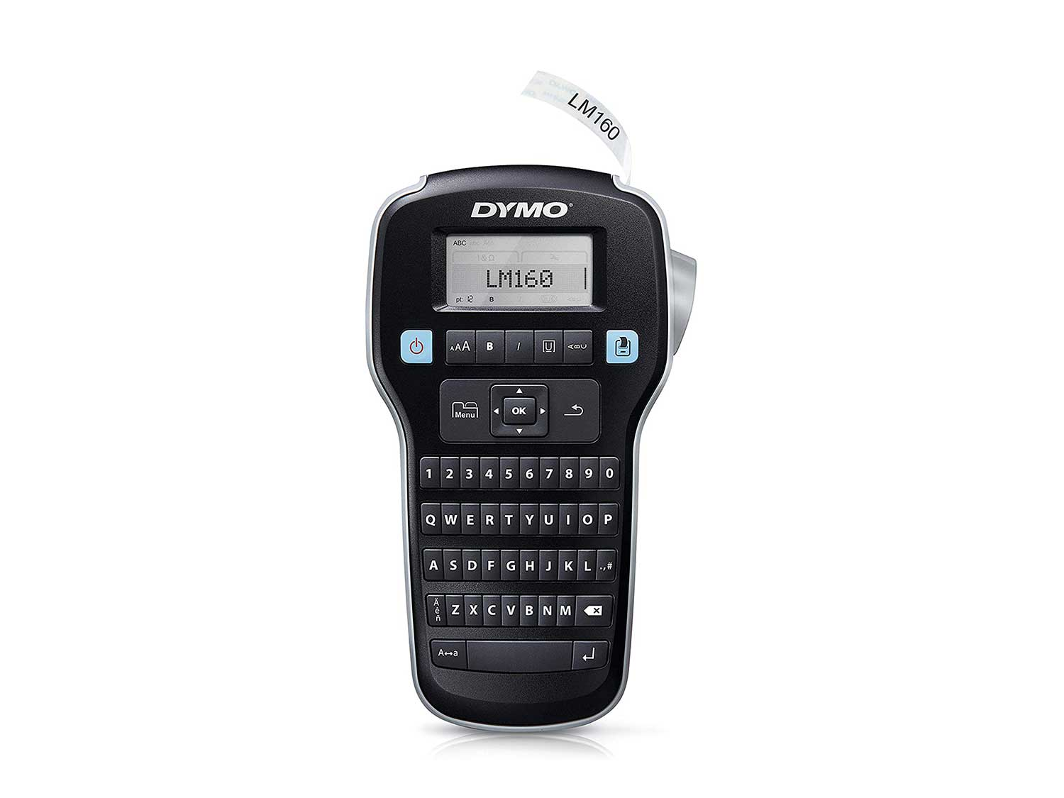 DYMO Label Maker LabelManager 160 Portable Label Maker, Easy-to-Use, One-Touch Smart Keys, QWERTY Keyboard, Large Display, For Home & Office Organization