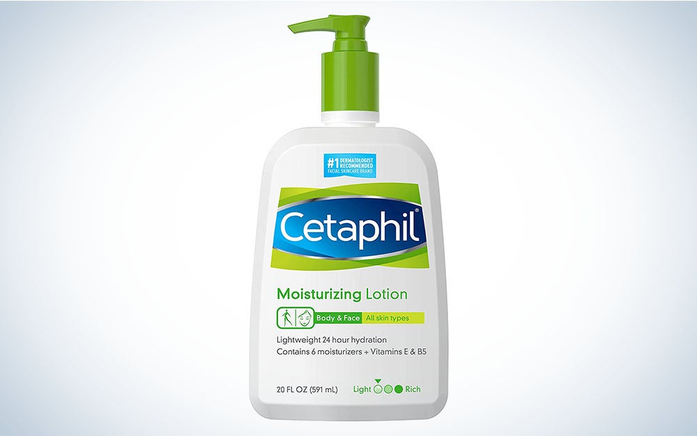Cetaphil Moisturizing Lotion is the best body lotion for sensitive skin.