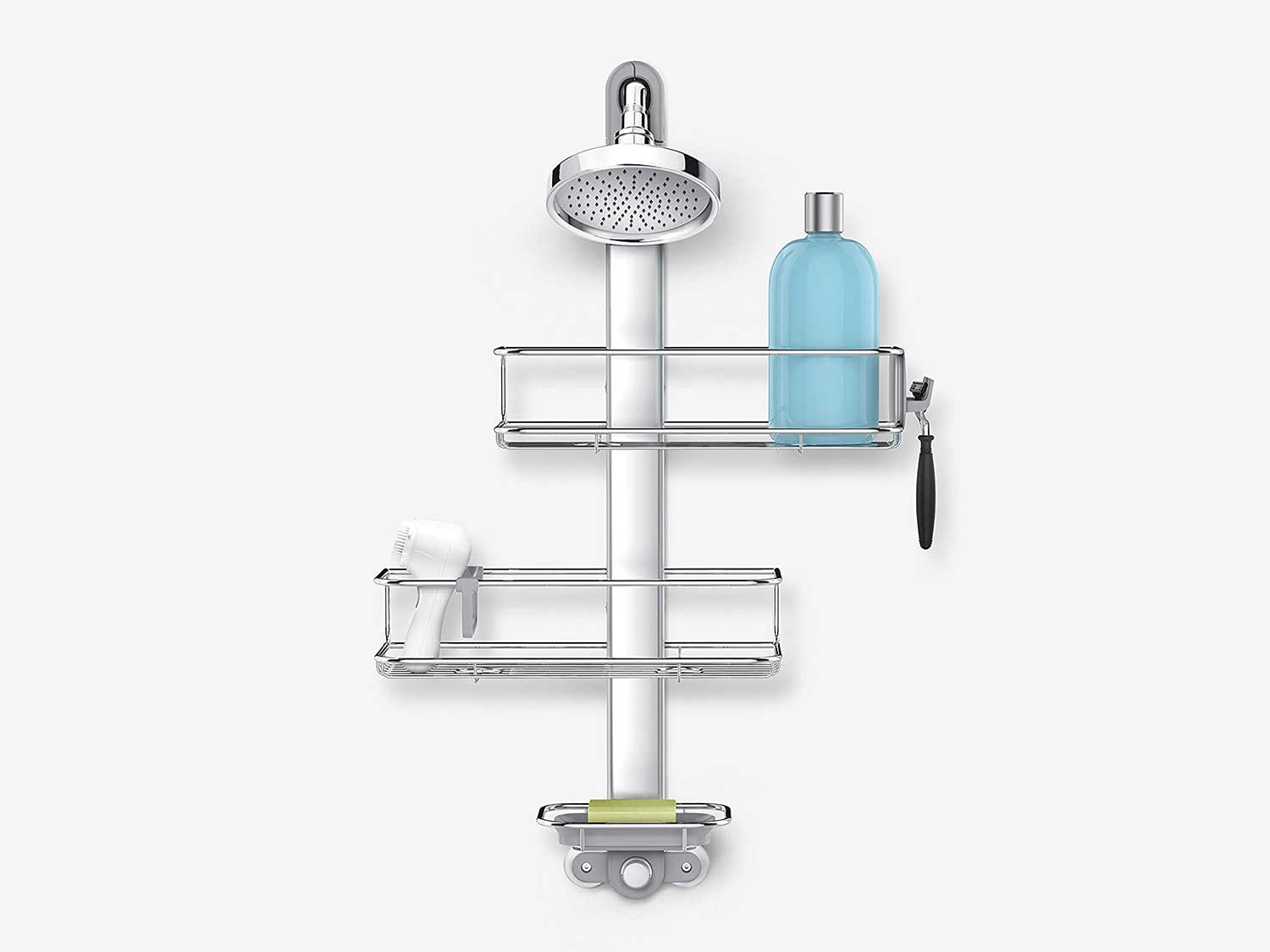 simplehuman Adjustable Shower Caddy Stainless Steel and Anodized Aluminum, Standard