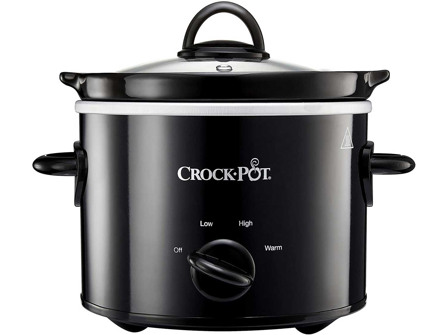 Crock-Pot Slow Cooker   Removable Easy-Clean Ceramic Bowl   1.8L Small Slow Cooker (Serves 1-2 People)   Black   [CSC080]