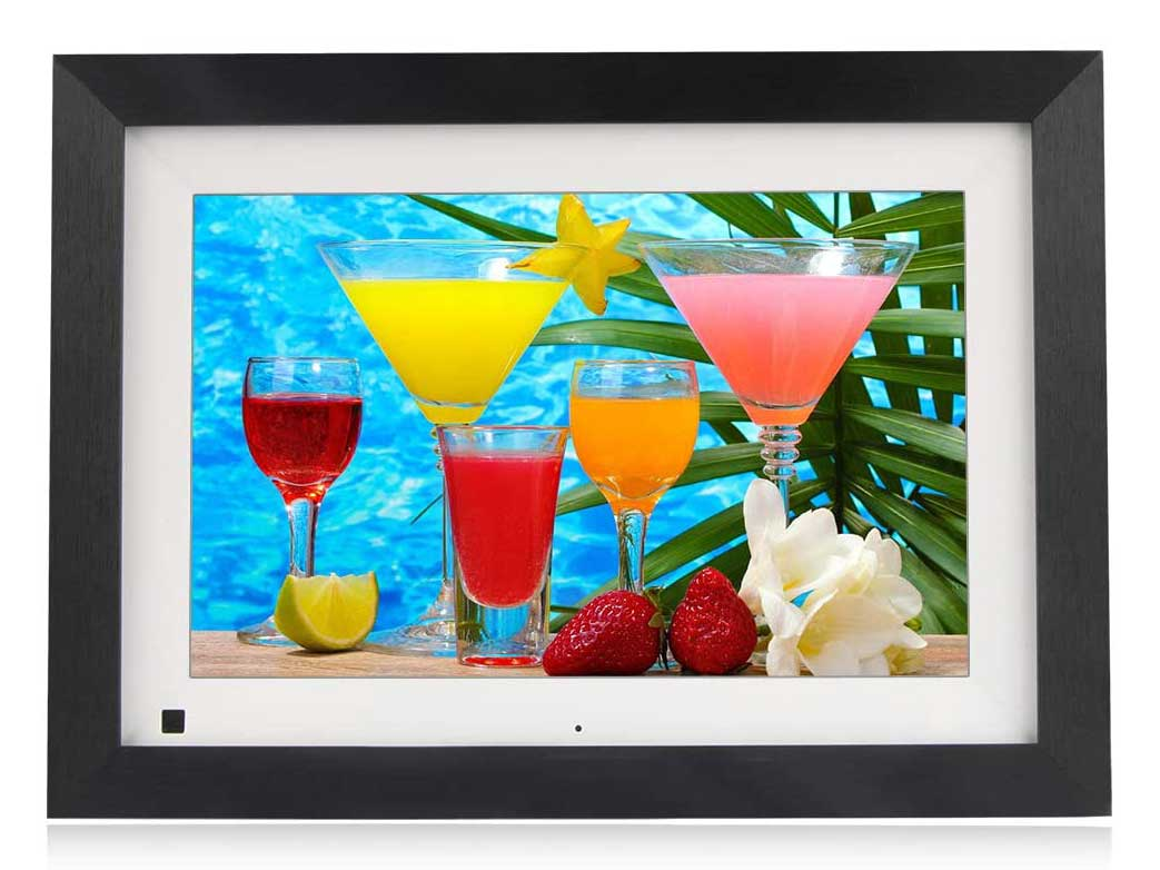 BSIMB Digital Picture Frame 10.1 Inch WiFi 16GB Digital Photo Frame Touch Screen 1280x800 Auto Rotate Motion Sensor Share Photos/Videos Via iOS & Android App/Email/Twitter/Facebook(W10B)