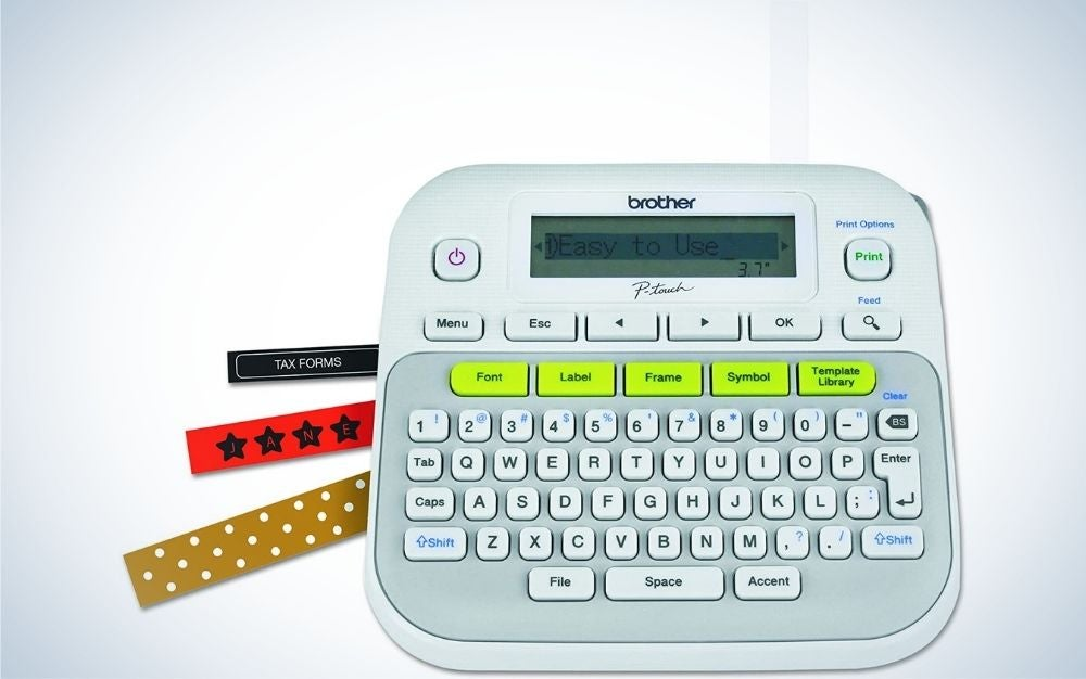 The Brother P-touch, PTD210, Easy-to-Use Label Maker is the best for beginners.