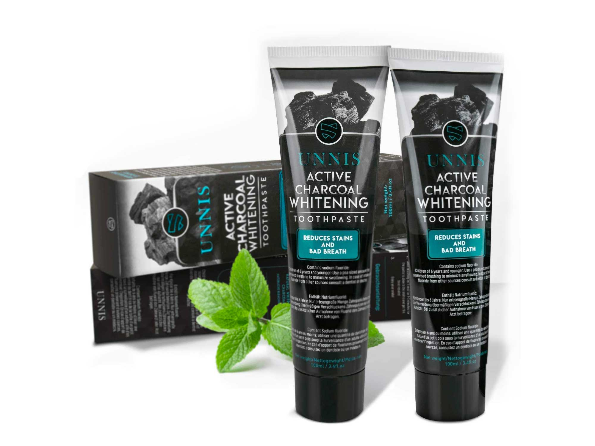 Activated Charcoal Teeth Whitening Toothpaste 2 Pack Active Natural Teeth Whitening Toothpastes