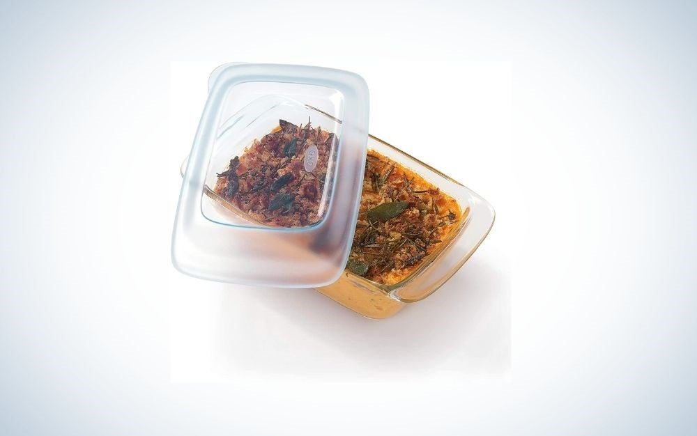 Transparent Pan With Lid For Warm Food