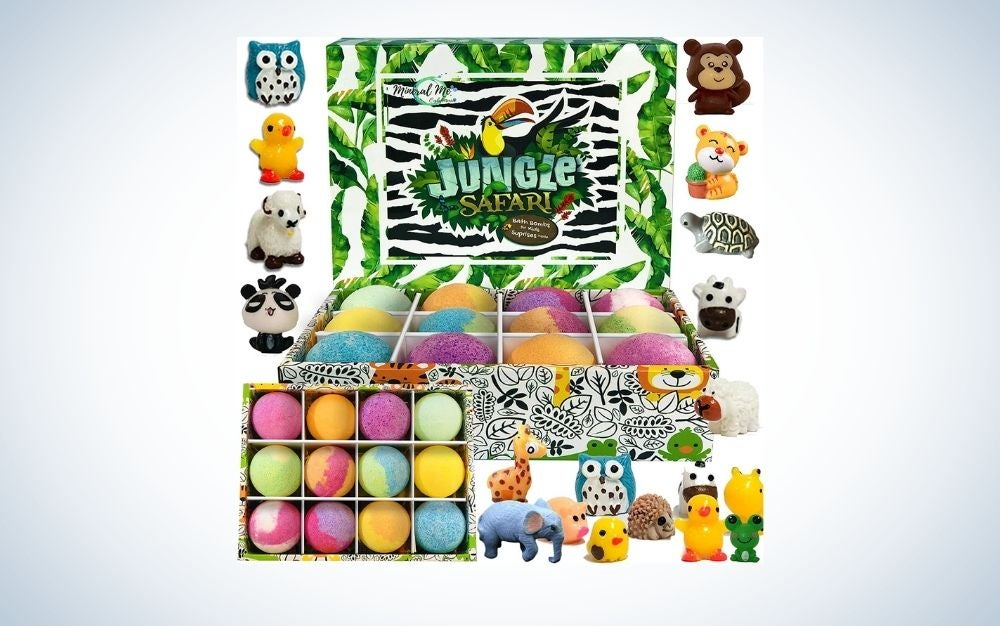Colorful jungle animals bath toys for kids