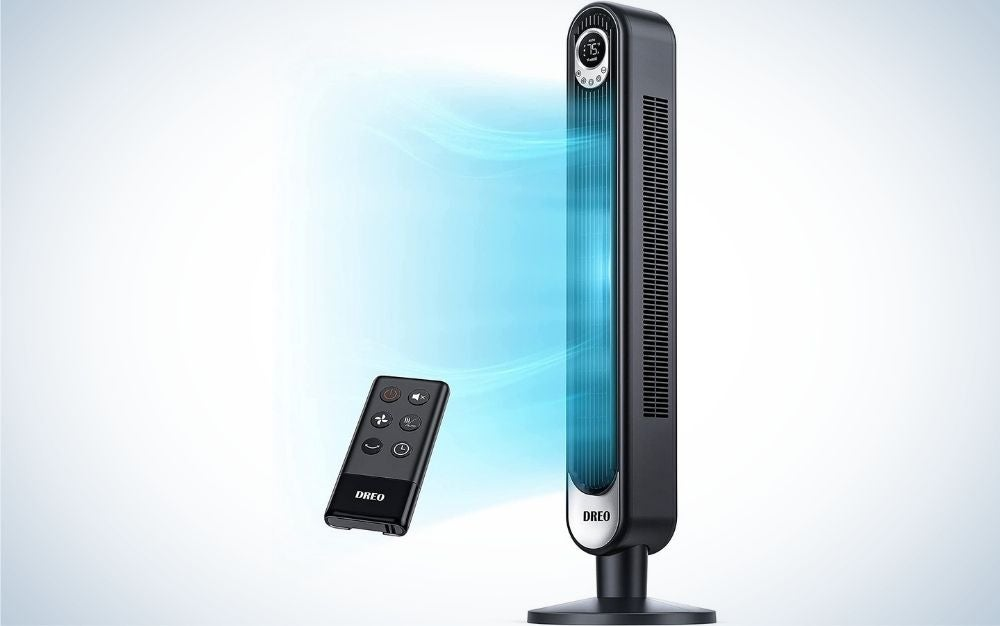 The Dreo Tower Fan with Remote is the best overall