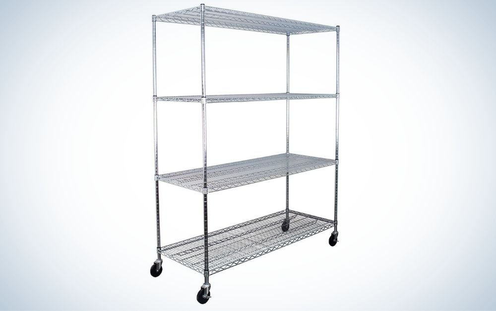 The SafeRacks Adjustable 4-Tier Steel Wire Shelving Rack is the best for kitchens.