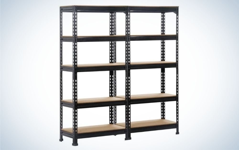 The Yaheetech Five-Shelf Units Storage Rack is the best overall.