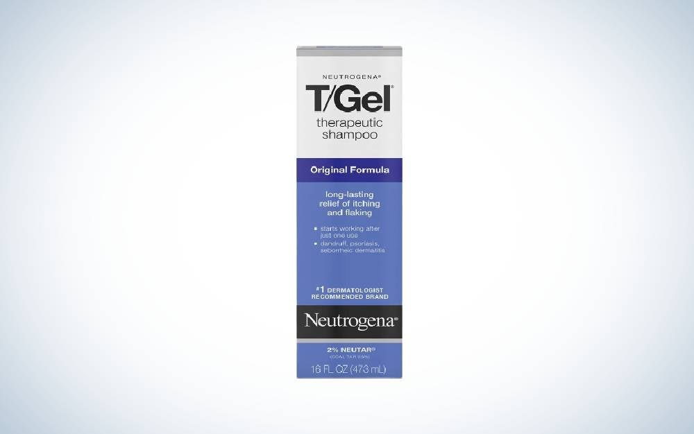 Neutrogena T/Gel Therapeutic Shampoo is one of the best dandruff shampoos for psoriasis